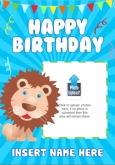 Kids Birthday Lion