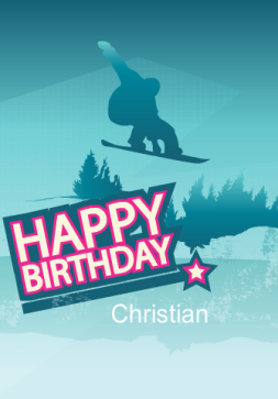 Birthday Snowboarder